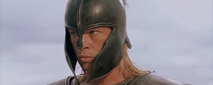 brad pitt, gfycatdepot, highqualitygifs, Is There No One Else? [Troy Achilles Brad Pitt Looking around. Hungry for blood. Angry mad. waiting] (reddit) GIFs