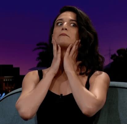 awkward, crazy, jenny slate, the late late show, weird, Jenny Slate GIFs