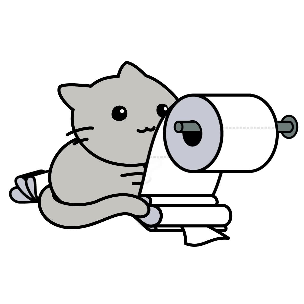 Cat, Creative Commons, Gfycat, Loading Icon, LoadingIcon, Toilet Paper, Gfycat Loading Icon — cat playing with toilet paper GIFs