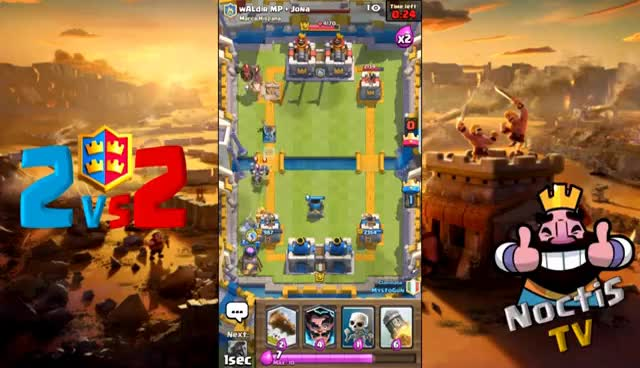 Watch and share Clash Royale - CLAN BATTLE 2vs2 GAMEPLAY (mortar Electro Bandit Deck) GIFs on Gfycat