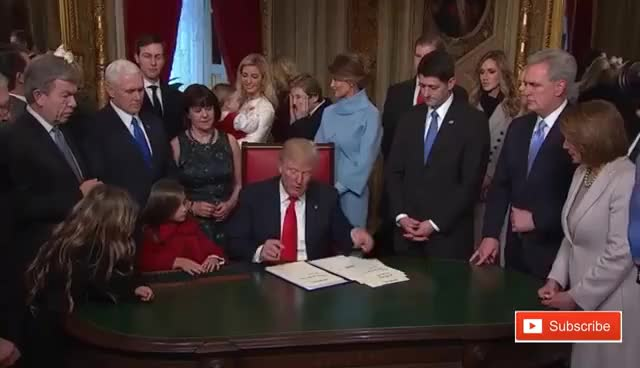 Watch and share Donald Trump Signing Documents At Capitol Hill Procedural Grab-bag On Inauguration Day 2017 ✔ GIFs on Gfycat