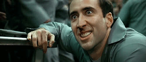 crazy, scary, Nic Cage GIFs