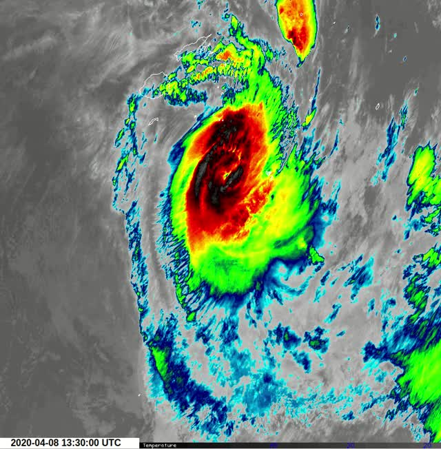 "Watch and share Tropical Cyclone ""Harold"" - Tonga - April 8, 2020 GIFs by The Watchers on Gfycat"