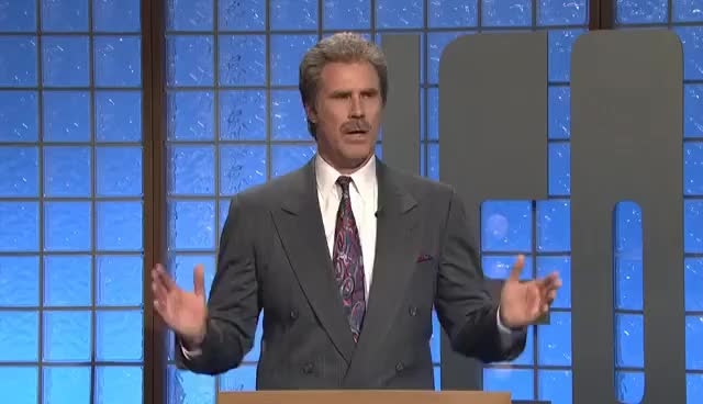 Watch and share Celebrity Jeopardy - SNL 40th Anniversary Special GIFs on Gfycat