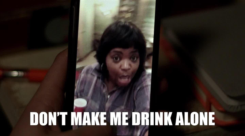 alone, drinking, lonely, ma, ma movie, octavia spencer, party, MA Octavia Spencer Don't Make Me Drink Alone GIFs