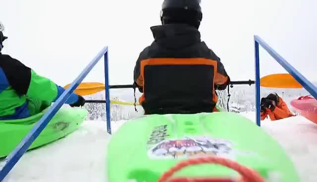kayak, snow, snowkayak GIFs