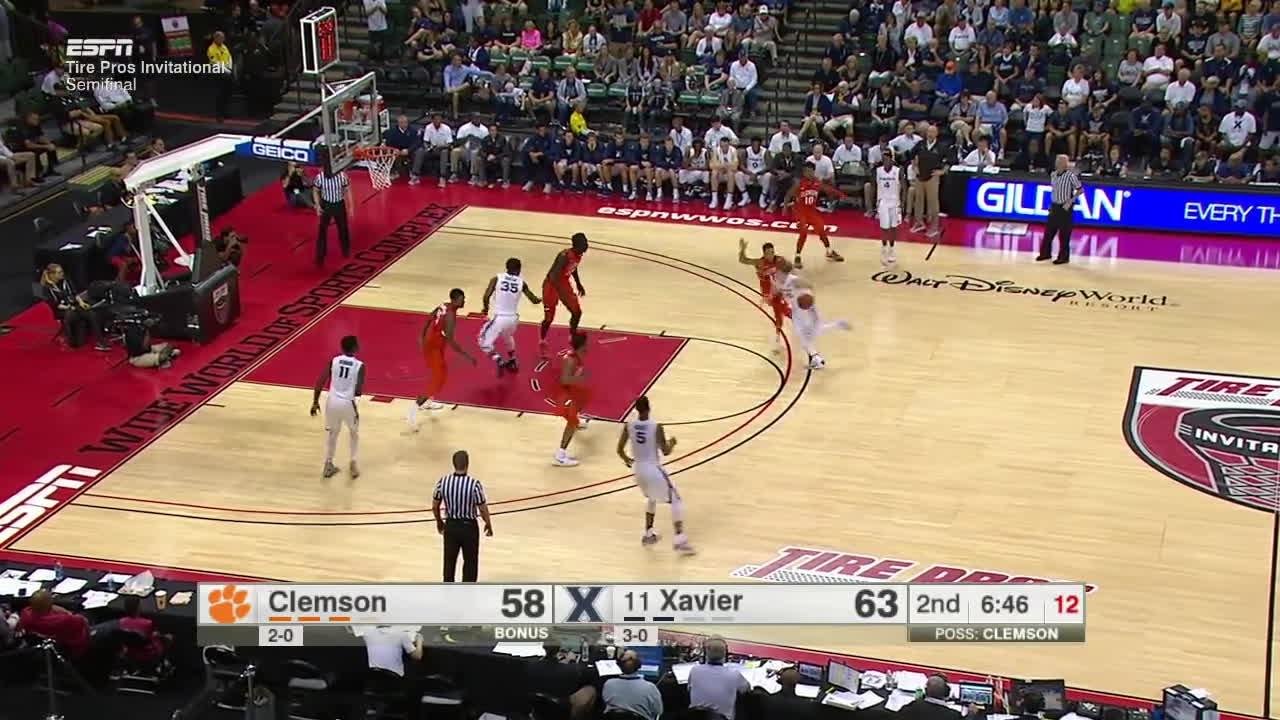2016-17 College Basketball: Clemson vs. (#11) Xavier (Full Game) GIFs