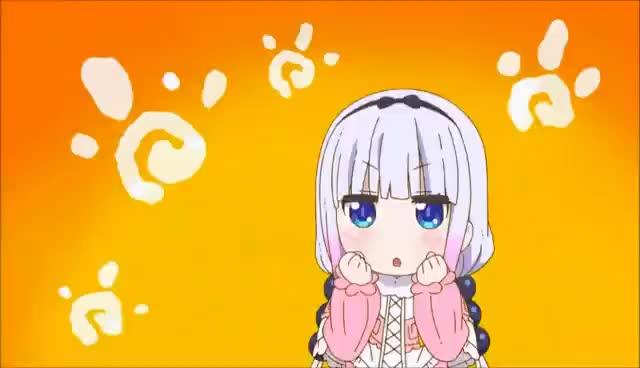 Watch and share Kobayashi San Chi No Maid Dragon - Kanna & Saikawa Cute Moments _(´ཀ`」 ∠)_ GIFs on Gfycat