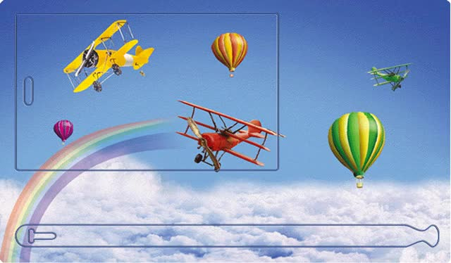Watch and share Hot Air Balloon Planes animated stickers on Gfycat