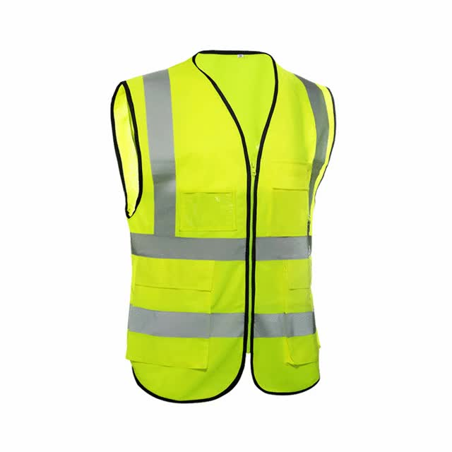 Watch and share New High Visibility Reflective Font Safety Font Font Vest Font Unisex Polyester GIFs on Gfycat