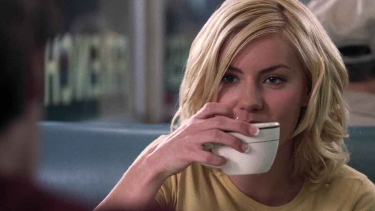 celebs, coffee, cup, cute, drink, elisha cuthbert, flirt, flirting, smile, smiling, the girl next door, The Girl Next Door - Elisha Cuthbert smile while drinking a cup of coffee GIFs