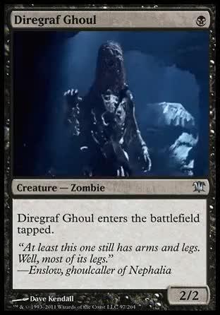 Watch Animated card of the day - 08/17/2015Diregraf Ghoul(Innistra GIF on Gfycat. Discover more Animated card of the day, Gothic Horror, Innistrad, Jack Sparrow, Johnny Depp, Pirates of the Caribbean, Sword, Undead, Zombie, black magic, custom Magic card, magic the gathering, magic: the gathering GIFs on Gfycat