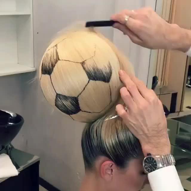 soccer ball hair GIFs