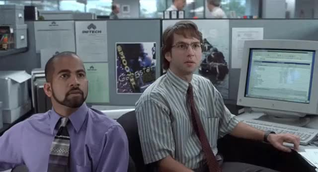 Watch and share Office Space (1999) : HighQualityGifs GIFs on Gfycat