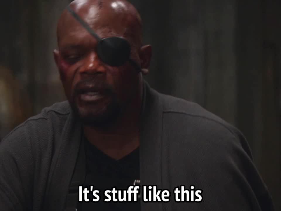 captain america, nick fury, samuel l. jackson, winter soldier, Captain America Winter Soldier - it's stuff like this that gives me trust issues 2 GIFs