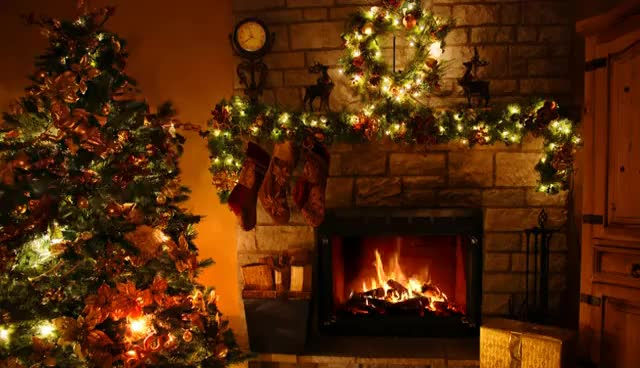 Watch and share Fireplace - Christmas Tree - Christmas Lights - 3 Hours GIFs on Gfycat