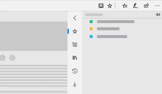 Watch and share The New Microsoft Edge Hub Experience In The Windows 10 October 2018 Update GIFs by Microsoft Edge on Gfycat