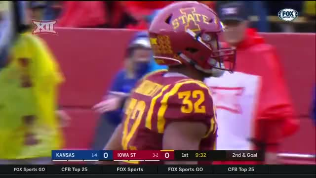 Watch and share Iowa State Cyclones V Kansas - Punt Return GIFs by LandGrant Gauntlet on Gfycat