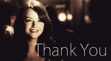 Emma Stone, blessing, thanks, thankyou, thank you GIFs