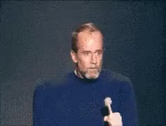 Watch and share George Carlin Freakout animated stickers on Gfycat