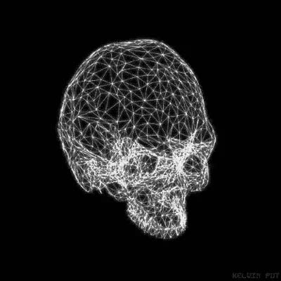 Watch and share Wireframe GIFs and Skull GIFs on Gfycat
