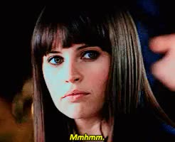 Watch and share Felicity Jones GIFs and Mmhmm GIFs on Gfycat