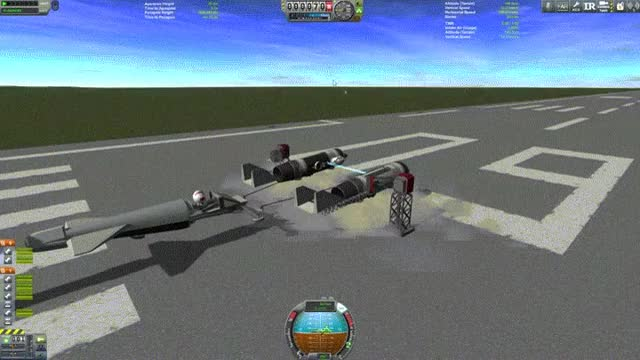 Watch and share First Working Prototype Of My New POD RACER, Working In KSP 0.25 GIFs by m1sz on Gfycat