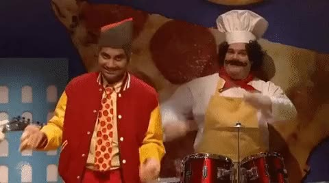 Watch pizza band – Monster GIF on Gfycat. Discover more aziz ansari GIFs on Gfycat
