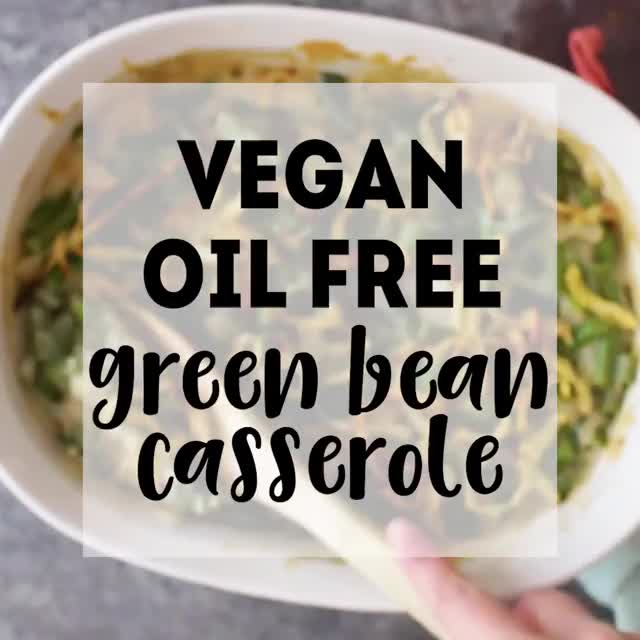 Watch and share 😋👏🏼 Green Bean Casserole, The VEGAN Way! Get The Full Printable Recipe Here:... GIFs on Gfycat