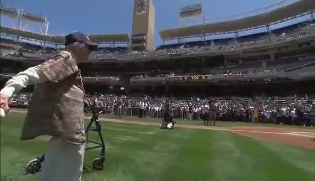 Watch and share 105 Year Old Woman GIFs and San Diego Padres GIFs on Gfycat