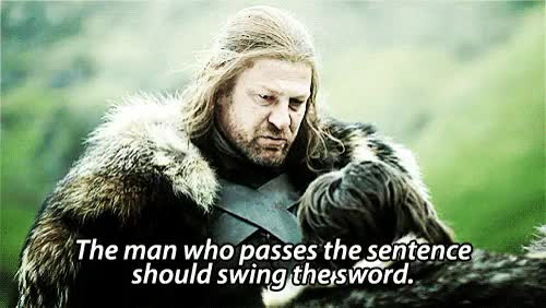 Watch and share Game Of Thrones GIFs and Eddard Stark GIFs on Gfycat
