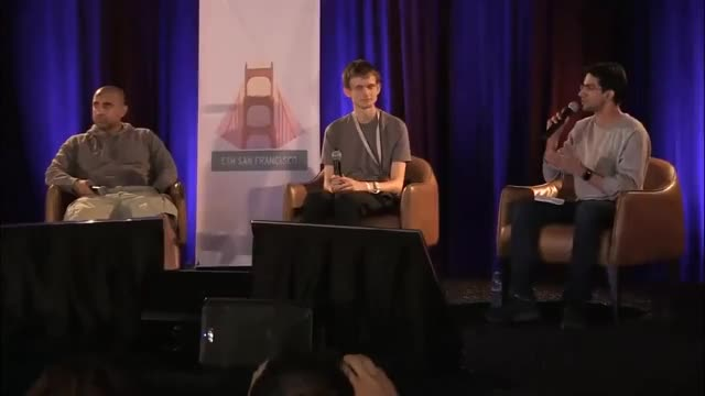 """Watch """"People don't realize how close the tech is to being ready"""" - Vitalik & Balaji Srinivasan at ETHSF GIF on Gfycat. Discover more blockchain, cryptocurrency, ethereum GIFs on Gfycat"""