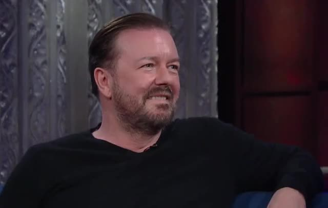 Watch and share Ricky Gervais GIFs and Lol GIFs by Reactions on Gfycat