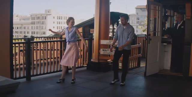 Watch Happy Tap - Emma Stone, Ryan Gosling GIF by La La Land (@lalaland) on Gfycat. Discover more dancing, lalaland, lionsgate, movies GIFs on Gfycat