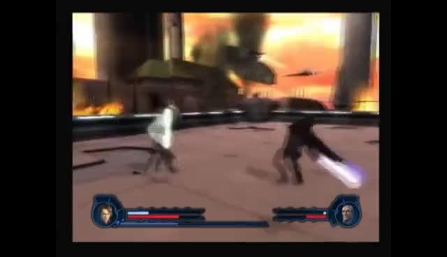 Star Wars: Revenge of the Sith PS2 Walkthrough, The Final Lesson - Serra Keto & Cin Drallig GIFs