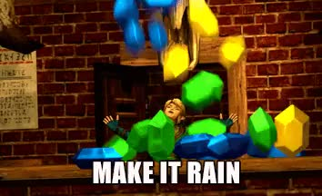 Watch this make it rain GIF on Gfycat. Discover more gif, legend of zelda, link, loz, make it rain, my edits, racing for rupess, rupees, so this happened, the legend of zelda, zelda GIFs on Gfycat