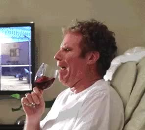 chair, cry, crying, drink, ferrell, hurt, massage, sad, tv, will, will ferrell, wine, Funny crying GIFs