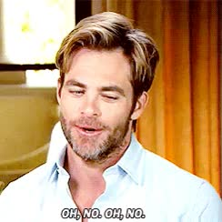 Watch this chris pine GIF on Gfycat. Discover more chris pine, no no no, oh no GIFs on Gfycat