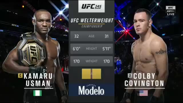 Watch and share Kamaru Usman Vs Colby Covington Full Fight UFC 245 Part 2 MMA Video GIFs on Gfycat