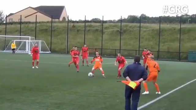 Watch and share Thug LIFE Linesman! 😂  Credit: Grass Root Goals GIFs by Wawa Wachiezz on Gfycat