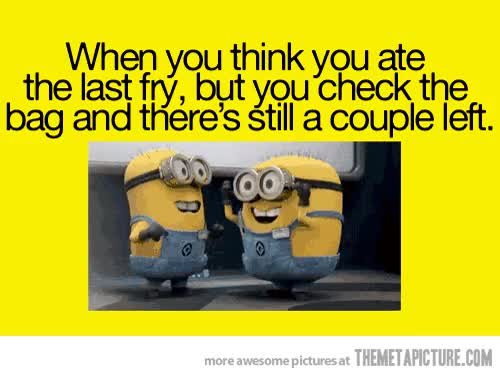 Watch and share Funny Last Fry Minions GIFs on Gfycat