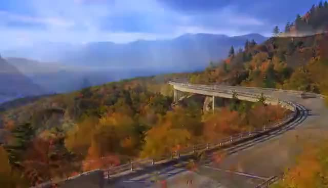 Watch and share Scenic Time Lapse: Fall Foliage & Incredible Mountain Views - Asheville, North Carolina GIFs on Gfycat