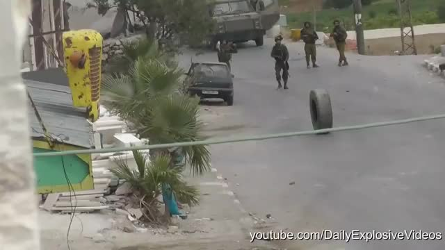 Watch and share Israeli Soldiers Getting Owned By A Tire GIFs by unreal on Gfycat