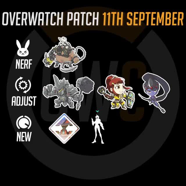Watch Overwatch Patch 11th September Rundown GIF by itsjieyang (@its_southpaw) on Gfycat. Discover more brigitte, busan, overwatch, overwatch patch, reinhardt, roadhog, widowmaker GIFs on Gfycat