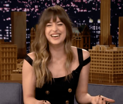 blush, dakota johnson, embarrassed, funny, lol, tonight show, Dakota Johnson LOL GIFs