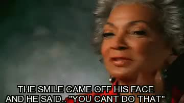 Watch this GIF on Gfycat. Discover more nichelle nichols GIFs on Gfycat