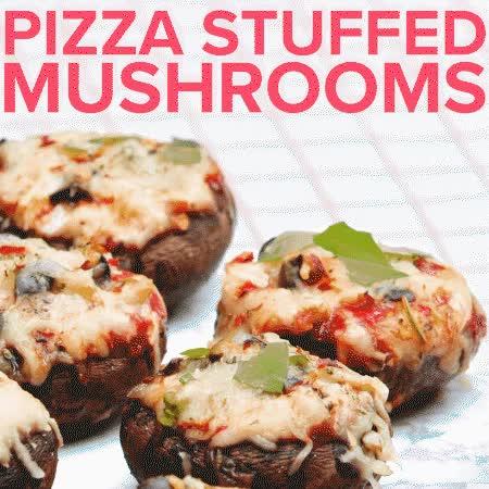food, stuffed mushrooms, Stuffed mushrooms GIFs