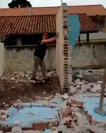 Watch and share Just A Man Pushing Down A Wall... GIFs on Gfycat