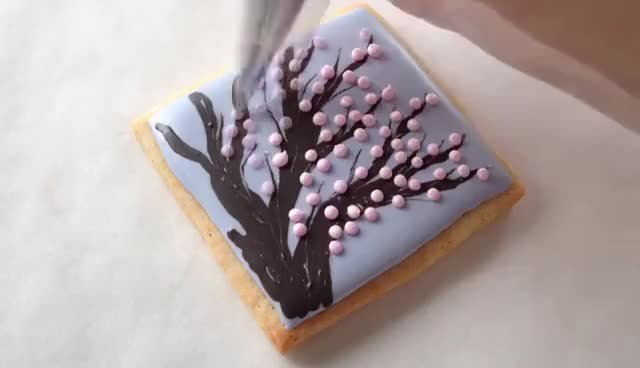 Watch and share Cherry Blossom Tree Cookies! GIFs on Gfycat