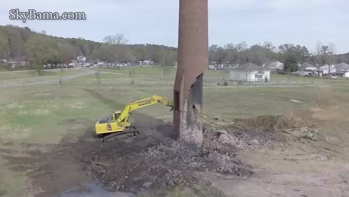 whatcouldgowrong, Breaking brick chimney. WCGW? (reddit) GIFs